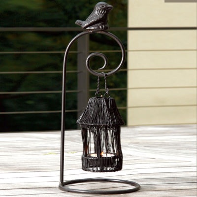 "St. Croix Trading Large 13"" Birdhouse Tealight Candle Holder"""