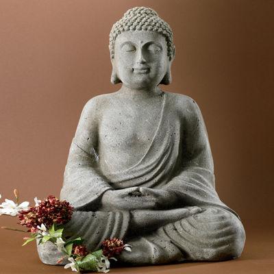 """St. Croix Trading 20"""" Tall Serene Meditating Buddha Statue"""""""