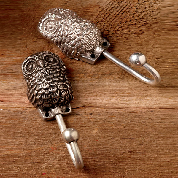 St. Croix Trading Set of 2 All Seeing Owl Wall Hooks