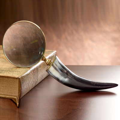 """St. Croix Trading 12"""" Authentic Horn Magnifying Glass"""""""