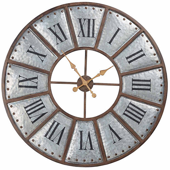 INK + IVY Verona Iron Wall Clock