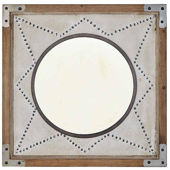 INK + IVY Axel Star Wood Frame Mirror