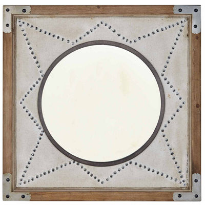 INK + IVY Axel Star Wood Frame Mirror