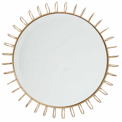 Madison Park Zoe Gold Iron Circle Mirror