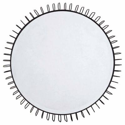 Madison Park Zoe Black Iron Circle Mirror