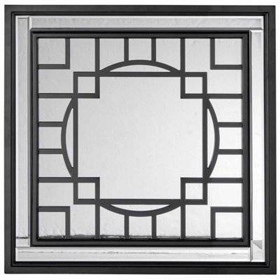 Madison Park Carter Patterned Print Mirror