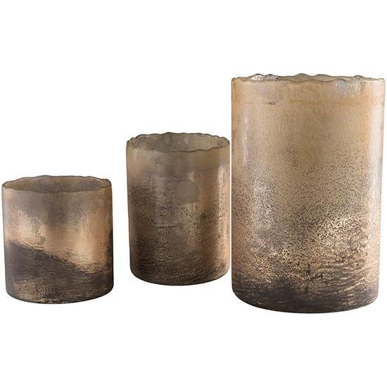 Decor 140 3pc Bronze Candle Holder