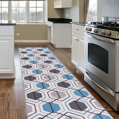 World Rug Gallery Contemporary Geometric Stripe Non-Skid Rectangular Rugs