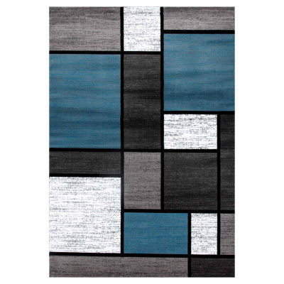 World Rug Gallery Contemporary Modern Boxes Rectangular Rugs