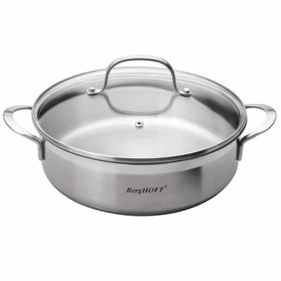 "BergHOFF Bistro Covered Deep Skillet 2-Handle Non-Stick 10"" 2.9-qt."""