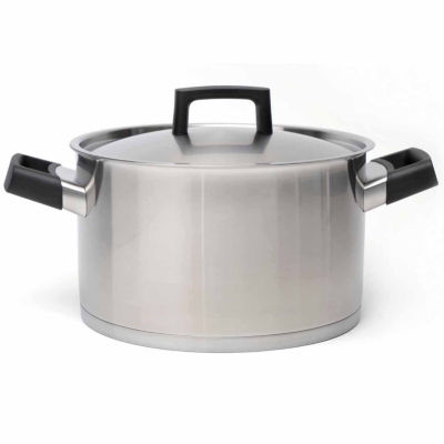 """BergHOFF RON 18/10 Covered Stockpot 9.5"""" 6.8-qt."""""""
