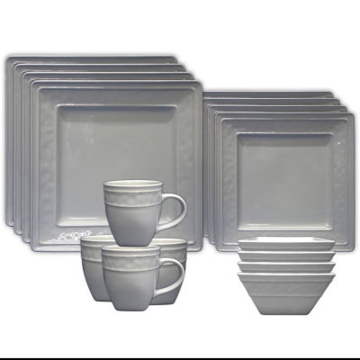 JCPenney Home™ Dillon 16pc Square Dinnerware Set