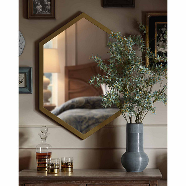 Madison Park Signature Hexi Mirror With Wood Frame
