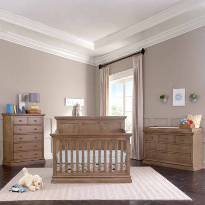 Bedford Baby Pine Ridge Convertible Crib - Cashew