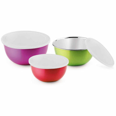 Microwonder Microwave Safe Stainless Steel Bowls- Set of 3