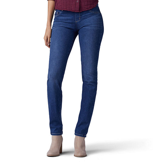 Lee® Sculpting Pull On Womens Mid Rise Slim Fit Jean