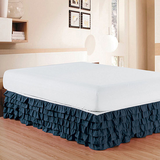 Elegant Comfort Luxurious Wrinkle and Fade Resistant Multi-Ruffle Bed Skirt - 15 inch Drop
