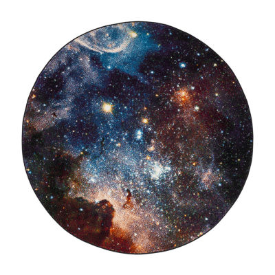 Safavieh Galaxy Collection Kimbra Geometric Round Area Rug