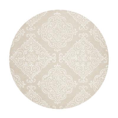 Safavieh Glamour Collection Aubrey Damask Round Area Rug