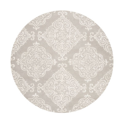 Safavieh Glamour Collection Aubrey Damask Round Area Rug