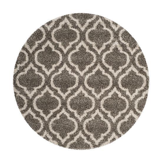 Safavieh Hudson Shag Collection Toireasa Geometric Round Area Rug