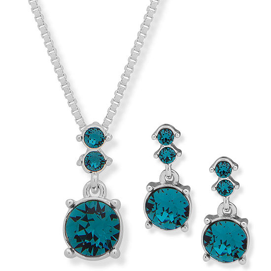 Gloria Vanderbilt Womens Silver Tone 2-pc. Jewelry Set