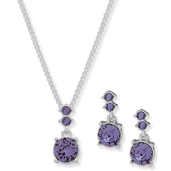 Gloria Vanderbilt Womens Silver Tone 2-pc. Jewelry Set
