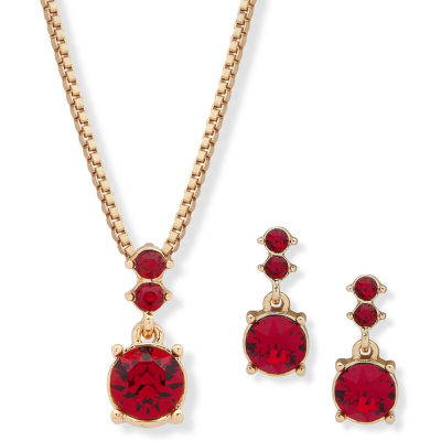 Gloria Vanderbilt Womens Gold Tone 2-pc. Jewelry Set