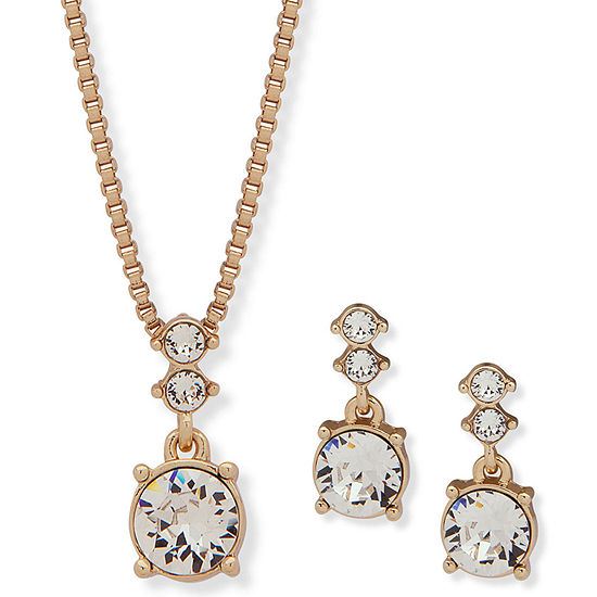 Gloria Vanderbilt Womens Gold Tone 2-pc. Jewelry Set