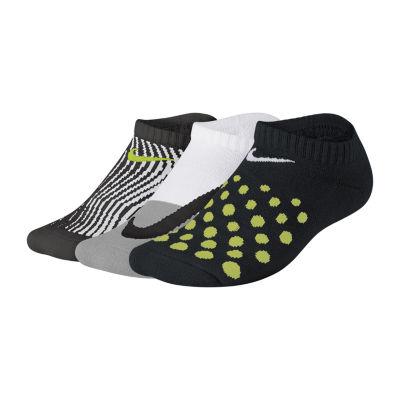 Nike Performance 3 Pair No Show Socks-Big Kid