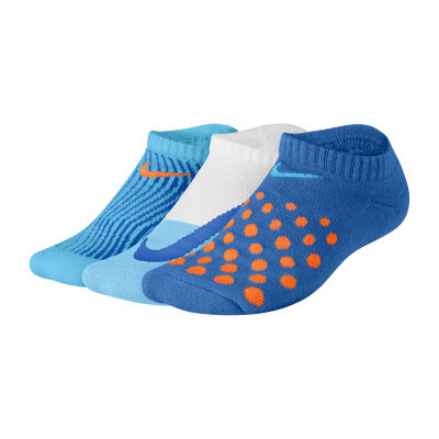 Nike Performance 3 Pair No Show Socks-Big Kid