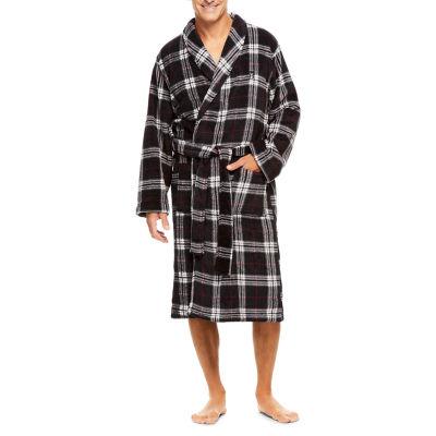 Haggar Printed Coral Fleece Robe - Men's