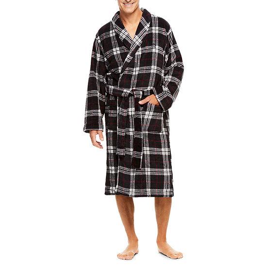 Haggar Printed Coral Fleece Robe Mens