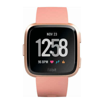 Fitbit Versa Peach Unisex Pink Smart Watch - Fb504rgpk