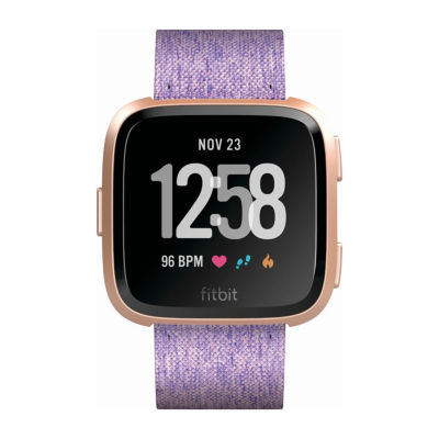 Fitbit Versa Lavender Printed Unisex Purple Smart Watch-Fb505rglv