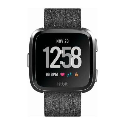 Fitbit Versa Charcoal Printed Unisex Smart Watch-Fb505bkgy
