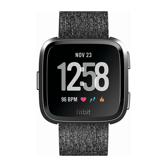 Fitbit Versa Special Edition Charcoal Printed Unisex Smart Watch-Fb505bkgy