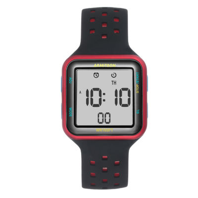 Armitron Mens Black Strap Watch-40/8417rrb