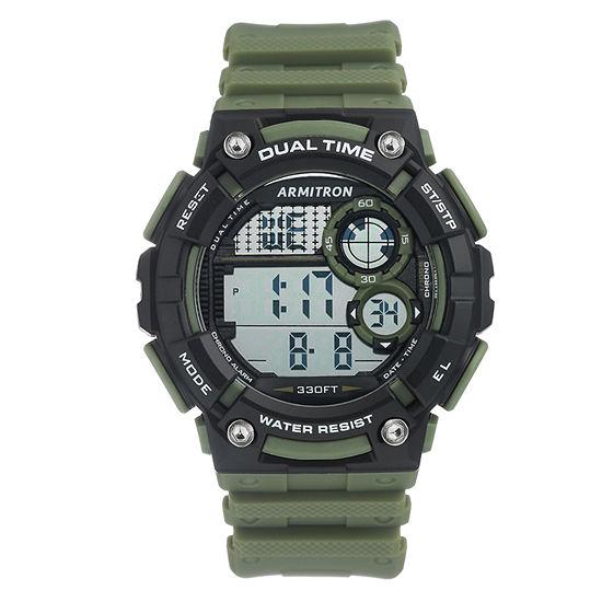 Armitron Mens Green Strap Watch-40/8445dgn