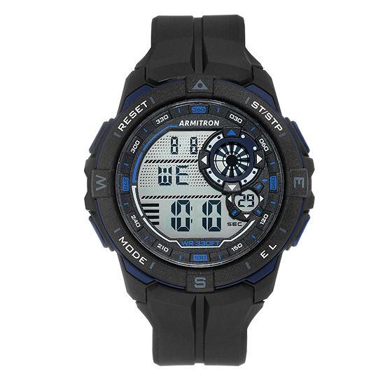 Armitron Mens Black Strap Watch-40/8449bbk