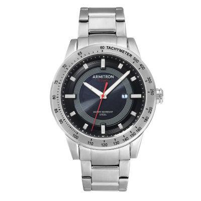 Armitron Mens Silver Tone Bracelet Watch-20/5288bksv