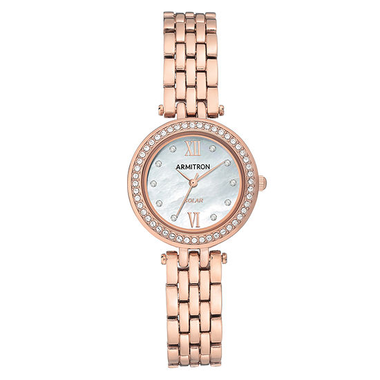 Armitron Womens Crystal Accent Rose Goldtone Bracelet Watch-75/5623mprg