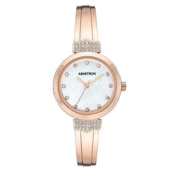 Armitron Womens Rose Goldtone Bracelet Watch-75/5637mprg