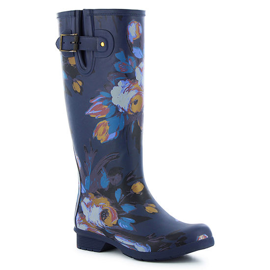 Western Chief Womens Nina Tall Rain Boots Waterproof Flat Heel Wide Width