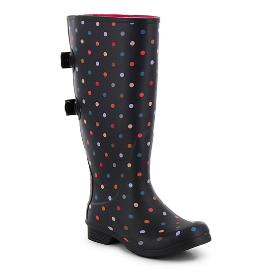 b1d733a03ad Western Chief Womens Rain Boots Waterproof Flat Heel Pull-on Extra Wide Calf