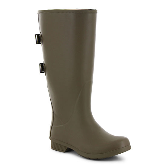 Western Chief Womens Versa Tall Rain Boots Waterproof Flat Heel Extra Wide Width