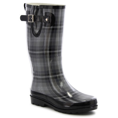 Western Chief Womens City Solid Mid Rain Waterproof Flat Heel Pull-on Boots