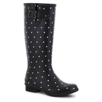 Chooka Fashion Womens Classic Printed Dot Rain Boots Waterproof Pull-on