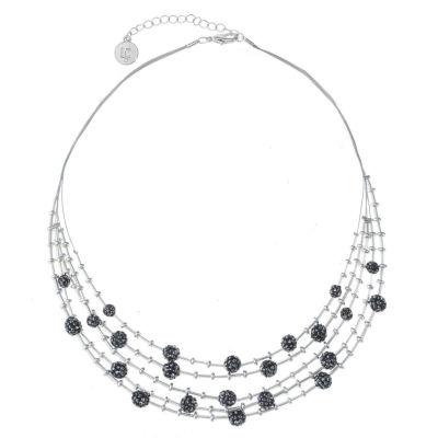 Liz Claiborne Womens Gray Illusion Necklace