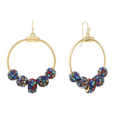 Liz Claiborne Multi Color 55mm Hoop Earrings